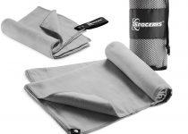2 pack microfiber travel towel (grey)