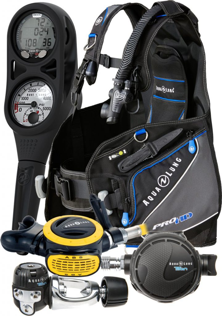 Aqua Lung Pro HD BCD i300 Dive Computer Titan / ABS Regulator Set
