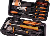 Cartman Orange 39-Piece Tool Set - General Household Hand Tool Kit with Plastic Toolbox Storage Case