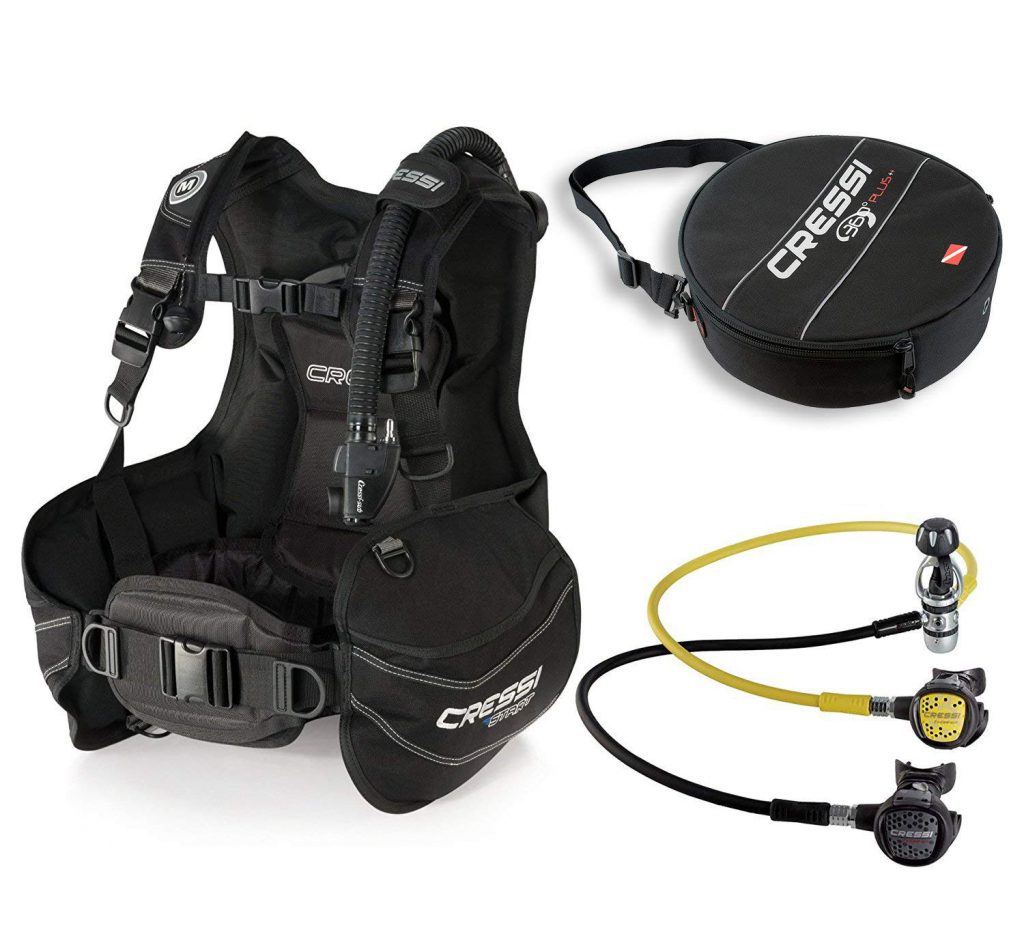 Cressi Start BCD Scuba Gear BC Regulator Package
