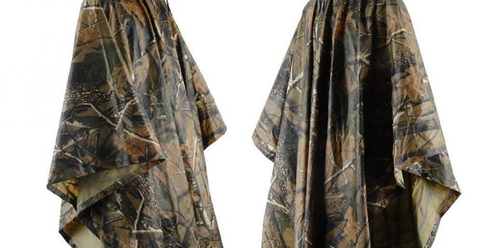 JTENG Rain Poncho waterproof, Rip-Stop for Hunting Camping Military and use with Emergency Grommet Corners for shelter use