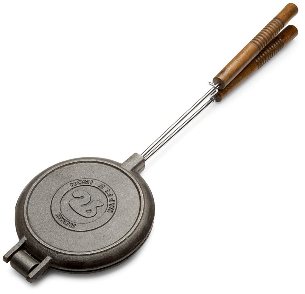 Romes 1028 Chuckwagon Waffle Iron, Cast Iron