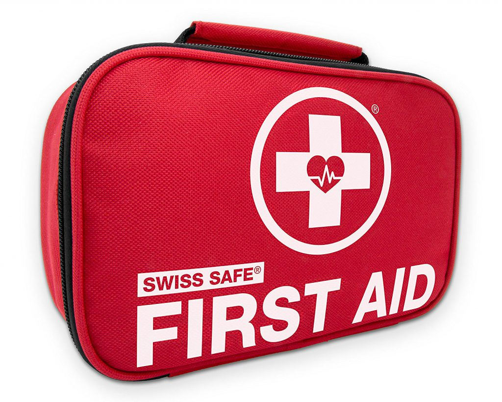 Swiss Safe 2-in-1 First Aid Kit (120 Piece) + Bonus 32-Piece Mini First Aid Kit: Compact, Lightweight for Emergencies at Home, Outdoors, Car, Camping