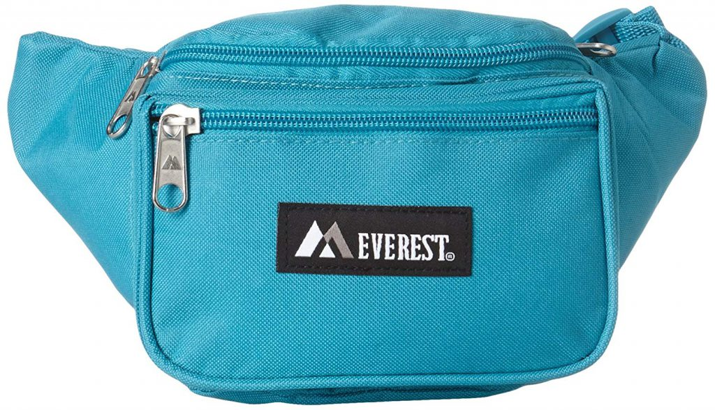 WATERFLY Slim Soft Polyester Water Resistant Waist Bag Pack for Man Women Outdoors Running Climbing Carrying Iphone 5 6 Plus